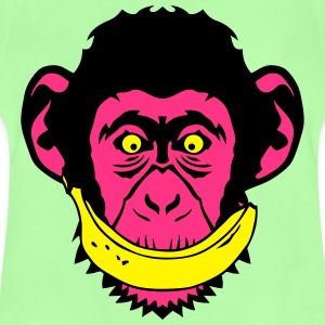 singe monkey sourire banane 2 smiley fac Tee shirts - T-shirt Bébé