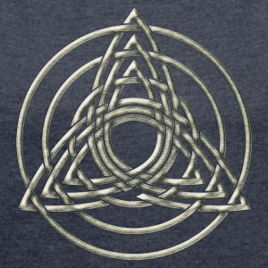 Triple Triquetra, Trinity, Symbol of perfection Hoodies & Sweatshirts - Women's T-shirt with rolled up sleeves
