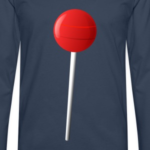Lollipop Lolly  T-shirts - Herre premium T-shirt med lange ærmer