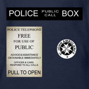 Doctor Who Tardis Police Box - Body bébé bio manches courtes