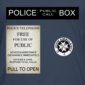 Doctor Who Tardis Police Box - T-shirt manches longues Premium Homme