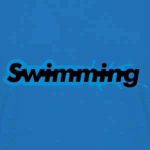 Swimming Paraply - T-skjorte for menn