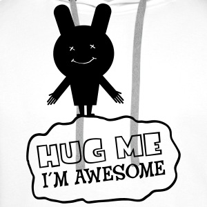 Hug Me - I´m Awesome Tee shirts - Sweat-shirt à capuche Premium pour hommes
