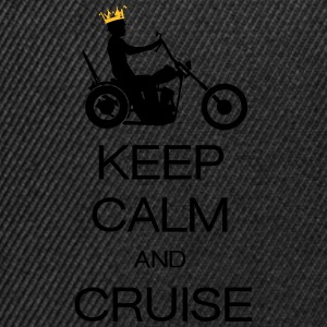 keep calm and cruise Tee shirts - Casquette snapback