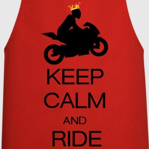 keep calm and ride T-shirts - Forklæde