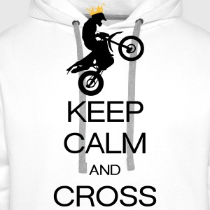 keep calm and cross Tee shirts - Sweat-shirt à capuche Premium pour hommes
