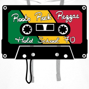 roots rock reggae old school 70 T-Shirts - Men's Premium Hoodie