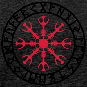 Aegishjalmur, Helm of awe, Sigil, Rune magic Hoodies & Sweatshirts - Men's Premium T-Shirt