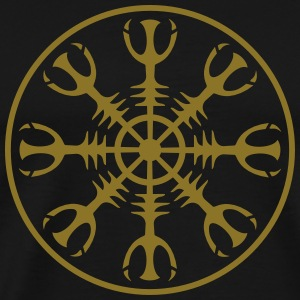 Helm of awe, Aegishjalmur, invincibility, runes Hoodies & Sweatshirts - Men's Premium T-Shirt