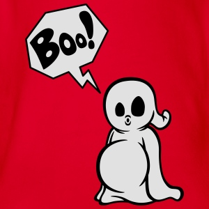 Spooky Boo Kids' T-Shirt - Organic Short-sleeved Baby Bodysuit