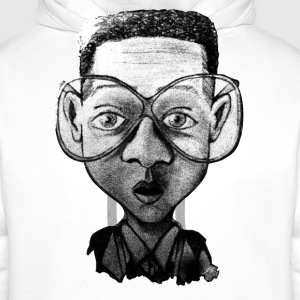 Blanc optic nerd Tee shirts - Sweat-shirt à capuche Premium pour hommes