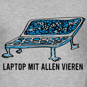 Laptop mit allen Vi(e)ren Pullover & Hoodies - Männer Slim Fit T-Shirt