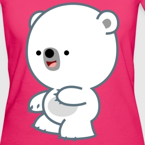Mischievous Little Polar Bear- Cheerful Madness!! Kids & Babies - Women's Organic T-shirt