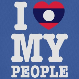 I Heart (Love) My Lao People Bags - Men's Breathable T-Shirt