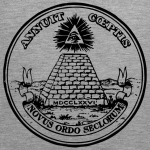 All seeing eye, pyramid, dollar, freemason, god T-shirts - Herre Premium tanktop