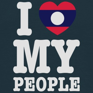 I Heart (Love) My Lao People Caps - Men's T-Shirt