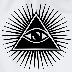 All seeing eye, pyramid, Freemason, God, Horus Camisetas - Mochila saco