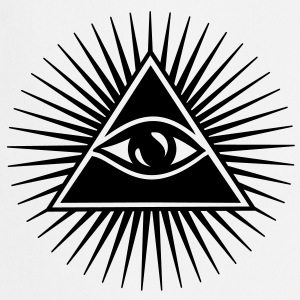 All seeing eye, pyramid, Freemason, God, Horus T-shirts - Forklæde
