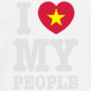 I Heart (Love) My Viet People Caps - Men's Premium T-Shirt