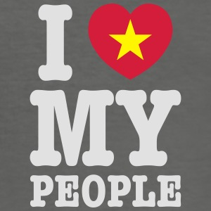 I Heart (Love) My Viet People Bags - Men's Slim Fit T-Shirt