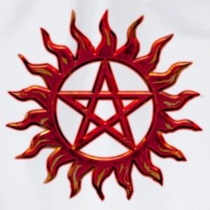 Pentagram - Blazing Star- Sign of intellectual omnipotence and autocracy. digital red, Star of the Magi , powerful symbol of protection T-shirts - Gymtas