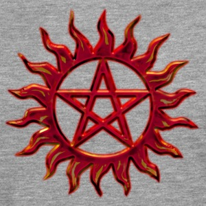 Pentagram - Blazing Star- Sign of intellectual omnipotence and autocracy. digital red, Star of the Magi , powerful symbol of protection T-Shirts - Männer Premium Langarmshirt