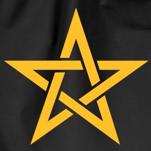 Star of the Magi - Pentagram - Sign of intellectual omnipotence and autocracy. Vector, Blazing Star, powerful symbol of protection T-Shirts - Drawstring Bag