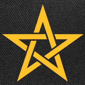 Star of the Magi - Pentagram - Sign of intellectual omnipotence and autocracy. Vector, Blazing Star, powerful symbol of protection T-Shirts - Snapback Cap