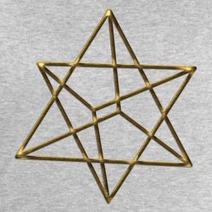 Merkaba, 3D, gold, divine light vehicle, sacred ge - Men's Sweatshirt by Stanley & Stella