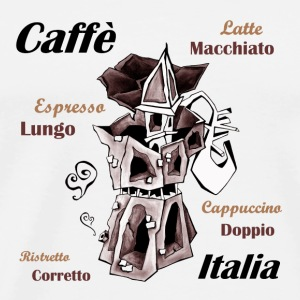 Coffee Cup - Italian Moka Pot - Men's Premium T-Shirt