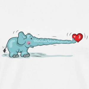 Elephant in love with heart Hoodies & Sweatshirts - Men's Premium T-Shirt
