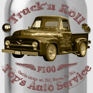 truck n roll 1955 f100 pickup vintage - Water Bottle