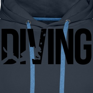 diving scuba T-Shirts - Men's Premium Hoodie