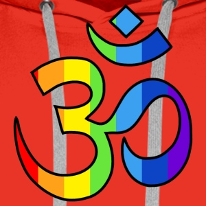 Yoga Om symbol in rainbow colors T-Shirts - Men's Premium Hoodie