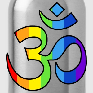 Yoga Om symbol in rainbow colors - Water Bottle