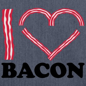 I Love Bacon T-shirts - Skuldertaske af recycling-material