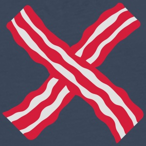 Bacon Cross T-shirts - Mannen Premium shirt met lange mouwen