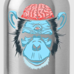 Svart Brain Chimp T-shirts - Vattenflaska