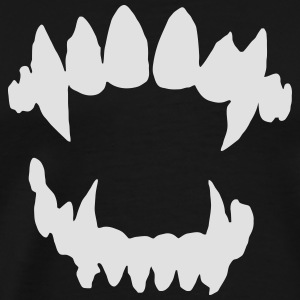Halloween Vampire - Vampire teeth Hoodies & Sweatshirts - Men's Premium T-Shirt