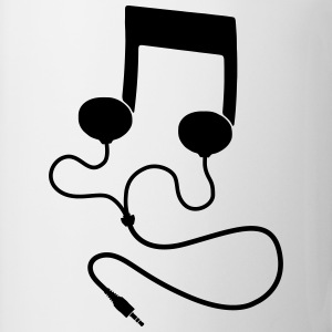 Sheet music with headphones Headphones T-Shirts - Mug