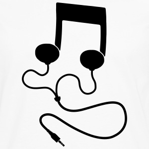 Sheet music with headphones Headphones T-Shirts - Men's Premium Longsleeve Shirt