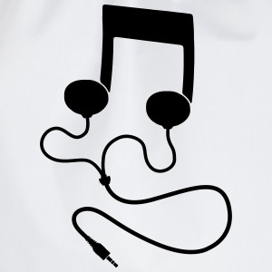 Sheet music with headphones Headphones T-Shirts - Drawstring Bag