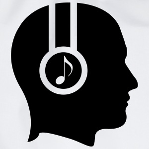 Head in profile with headset  T-Shirts - Drawstring Bag