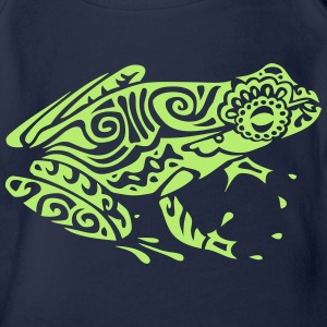 grenouille frog tribal style mexicaine 2 Tee shirts - Body bébé bio manches courtes