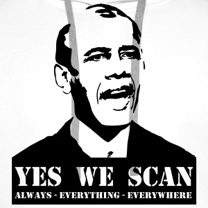 obama_yes_we_scan Camisetas - Sudadera con capucha premium para hombre