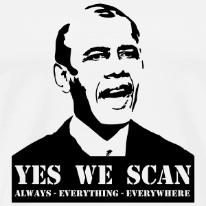 obama_yes_we_scan Caps & Mützen - Männer Premium T-Shirt