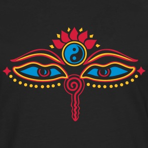 Buddha Eyes, Lotus, symbol wisdom & enlightenment T-Shirts - Men's Premium Longsleeve Shirt
