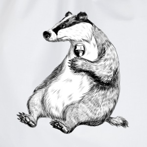 Badger with Wine T-Shirts - Drawstring Bag