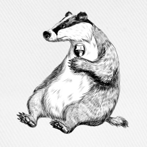 Badger with Wine T-Shirts - Baseball Cap