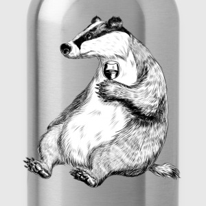 Badger with Wine T-Shirts - Trinkflasche